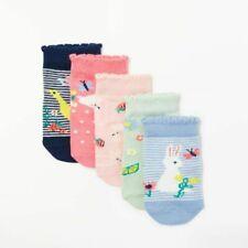 John Lewis 2 Pairs baby socks cotton rich size 0-3 months #61