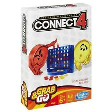 NEW HASBRO TRAVEL CONNECT 4 FOUR GRAB & AND GO GAME B1000 BOARD GAMES
