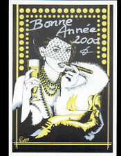 BONNE ANNEE 2000 illustré par Claude COUDRAY / ELEGANTE au CIGARE