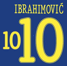 Sweden Ibrahimovic Nameset Shirt Soccer Number Letter Heat Print Football 2010 A