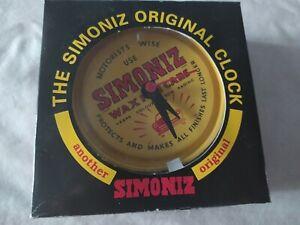 VINTAGE SIMONIZ WAX TIN ORIGINAL CLOCK - NEW/UNUSED/BOXED - FREE P&P!!