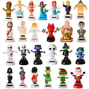 *XXL Auswahl* witzige Solarfiguren Charaktere Wackelfiguren Geschenk lustig