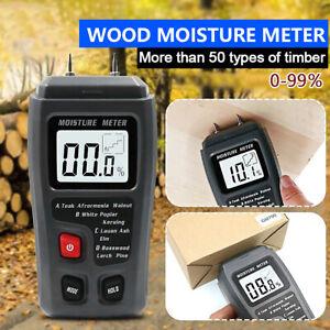 LCD Damp Meter Digital Moisture Detector Wood Humidity Caravan Tester Tool
