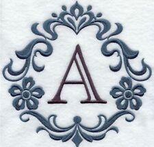 Damask Monogram Towels ~ Embroidered Hand Bath & Towel Sets~ Choose ur Colors