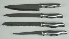 4 PIECE KNIFE SET Stainless WITH SERRATED EDGE Blades - Made in China