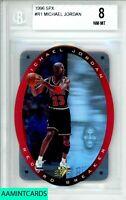 1996 SPX  Michael Jordan #R1 RECORD BREAKER CHICAGO BULLS BGS 8 NM-MT
