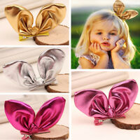 Xmas Gift Baby Infant Toddler Girl Kid Rabbit Hair Clip Bow Hairpin Headdress