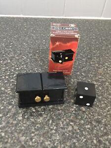 Rare Vintage Comedy Closeup Magic Trick Mini Die Box