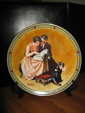 "1985 Bradford Exchange Norman Rockwell Plate ""A Couple's Commitment # 8299D"