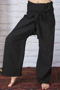 Thai Fisherman Pants Trousers Cotton Hippie Harem Casual Yoga Wrap with top