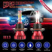H13 9008 2000W 330000LM 4-Side LED Headlight CREE Car Kit Hi/Lo Beam Bulb 6000K~