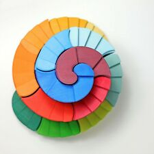 Grimm's Spiel und Holzdesign 42095 doppelläufige Stufenspirale Bausteine bunt