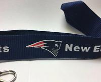 New England Patriots Lanyard ID Badge Key Chain Clip Detachable Ticket Holder