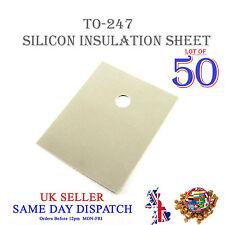 50x TRANSISTOR Isolamento Foglio in silicone TO-247 Isolante Termico Pad 20x25mm