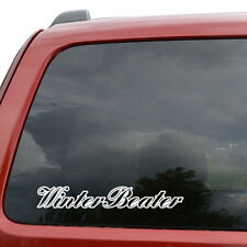"Winter Beater JDM Car Window Decor Vinyl Decal Sticker- 6"" Wide White"