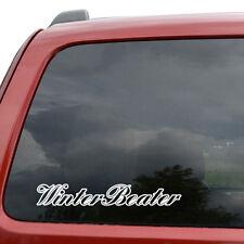 "Winter Beater JDM Car Window Decor Vinyl Decal Sticker- 6"" Wide White"