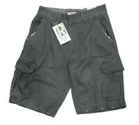 New DREAM USA Men's (Size 38) Gray Cargo Shorts 6 Pockets Zip Fly $60 Retail NWT
