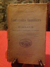 Ernest Delahaye - Souvenirs familiers - Rimbaud - B12