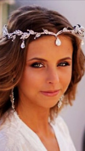 BRIDAL VINTAGE SILVER /GOLD  WEDDING CRYSTAL RHINESTONE TIARA HAIR ASSESSORIE