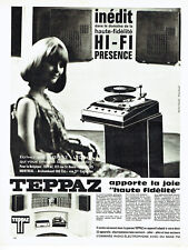 Publicité Advertising 088  1966   Teppaz  hi-fi   radio éléctrophone