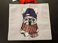 NWT Hipster French Bulldog Tote, Frenchie with Hat, gloves and scarf
