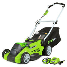 "Greenworks 40V G-Max Li-Ion 16"" 2-in-1 Lawn Mower 25322 New"
