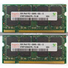 Hynix 4GB 2*2GB PC2-5300 DDR2 667MHz200-Pin NEW SODIMM Laptop Memory Ram Pairs