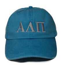 Alpha Delta Pi Letter Design Bright Blue with Gray Thread Baseball Hat ADPi