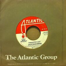"ANGLO-SAXON BROWN Straighten It Out 45 7"" PROMO 1976 Atlantic NM"