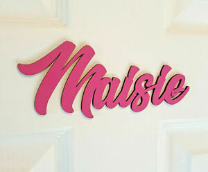 *ANY NAME & ANY COLOUR* Personalised Painted Wooden Name Plaque Door Sign #2