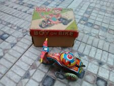 Vintage Tin Wind Up Tricycle Toy Original Box Made by Aoki 1950's