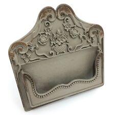 Decorative Vintage Bronze Grey Metal Place Card Holder Stand Wedding Business