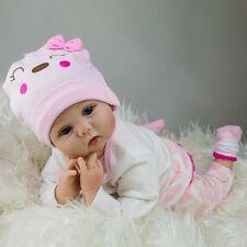 CHEAP 22'' Handmade Lifelike Newborn Silicone Vinyl Reborn Baby Dolls Grils Gift