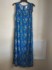 Disney Store Exclusive Blue Maxi Style Hawaiian Dress in Size Large.