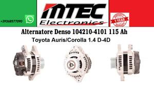 Alternator Denso 104210-4101 115 Ah Toyota Auris Toyota Corolla 1.4 D-4D