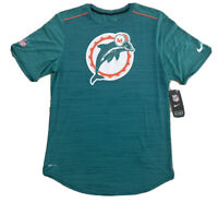 NWT NIKE TECH MIAMI DOLPHINS TEAM ISSUED THROWBACK LOGO ON FIELD DRI-FIT SHIRT S