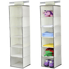 Large Size 6 Section/Unit Wardrobe Hanging Storage Clothes Shoe Garment Organise