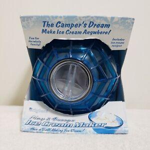Original 1 Pint Play & Freeze Ice Cream Maker Blue Campers Dream NEW
