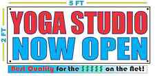 Yoga Studio Now Open Banner Sign New Larger Size Best Quality for The $