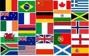 """Flags of the World - 18"""" x 12"""" - Multi listing - lots to choose from"""