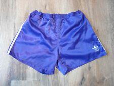 Vintage Adidas Shiny Nylon Shorts Glanz Ibiza Gym Running Size Large D8 (S087)