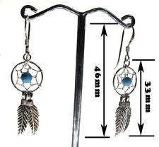 Boucle d'oreille capteur de rêves argent 925 / Dreamcatcher earrings silver 925