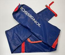 Vintage 1970s Rossignol Ski Bag Blue Vinyl Red Trim