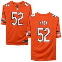 Khalil Mack Chicago Bears Autographed Nike Orange Game Jersey