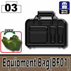 SIDAN Black Equipment Bag Weapons for Brick Minifigures