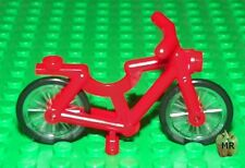 LEGO - Minifig, Riding Cycle - Red Bicycle Frame w/ Wheels & Black Tires
