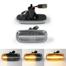 For Audi A4 S4 B5 B6 B7 A6 A8 C5 Clear Dynamic Flowing LED Side Turn Signal Lamp