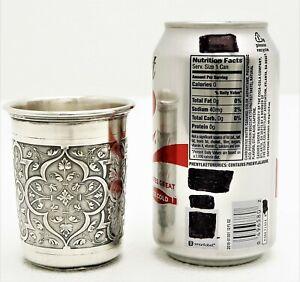 German Heavy Solid Silver Cup Detailed Arabesque Design Mrkd Koch & Bergfeld 800