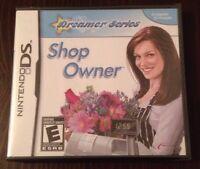 Dreamer Series Shop Owner Game For Ds Dsi Ds Lite 3Ds Nintendo *New & Sealed*