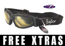 RAYZOR 2n1 UV400 CYCLING MTB GOGGLES SUNGLASSES Light Enhancing Lens RRP£69